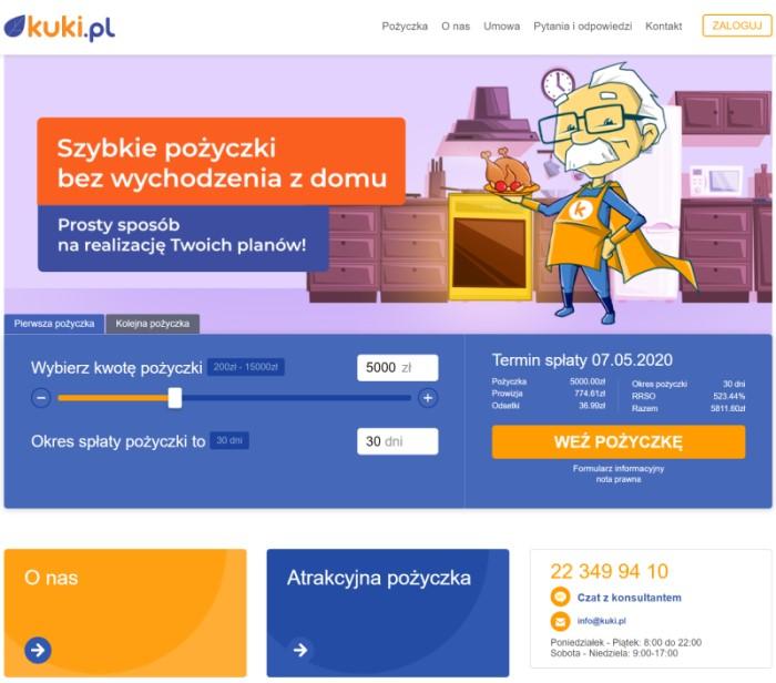 Kuki.pl - Pożyczki Bez Bik