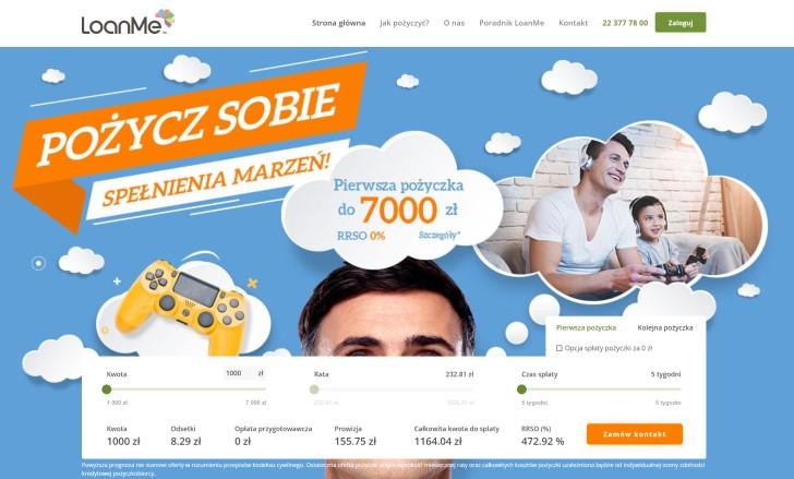 Loanme - Pożyczki bez BIK